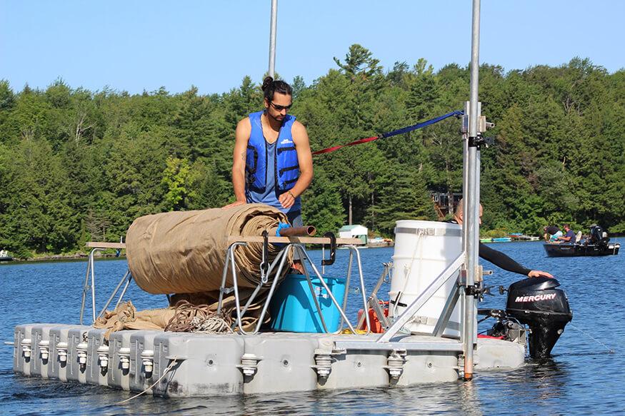 bateau toile myriophylle Candock