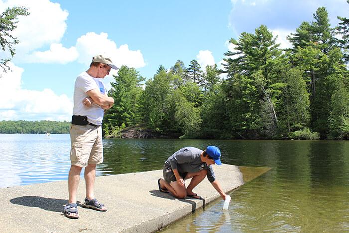 échantillonnage lac