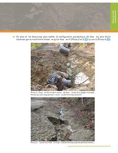 aménagement fossés érosion chemins forestiers