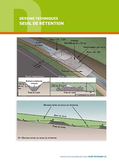 Rétention gestion environnementale des fossés
