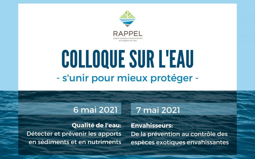 Colloque sur l'eau 2021